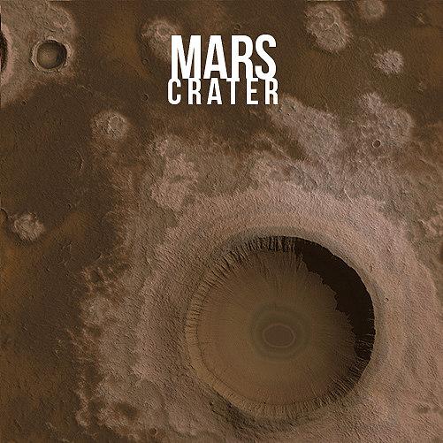 crater mars planet 3d model