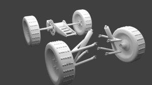 free 3ds model quad suspension