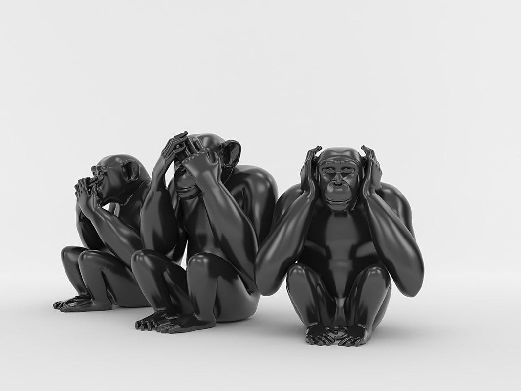 3d monkeys - hear