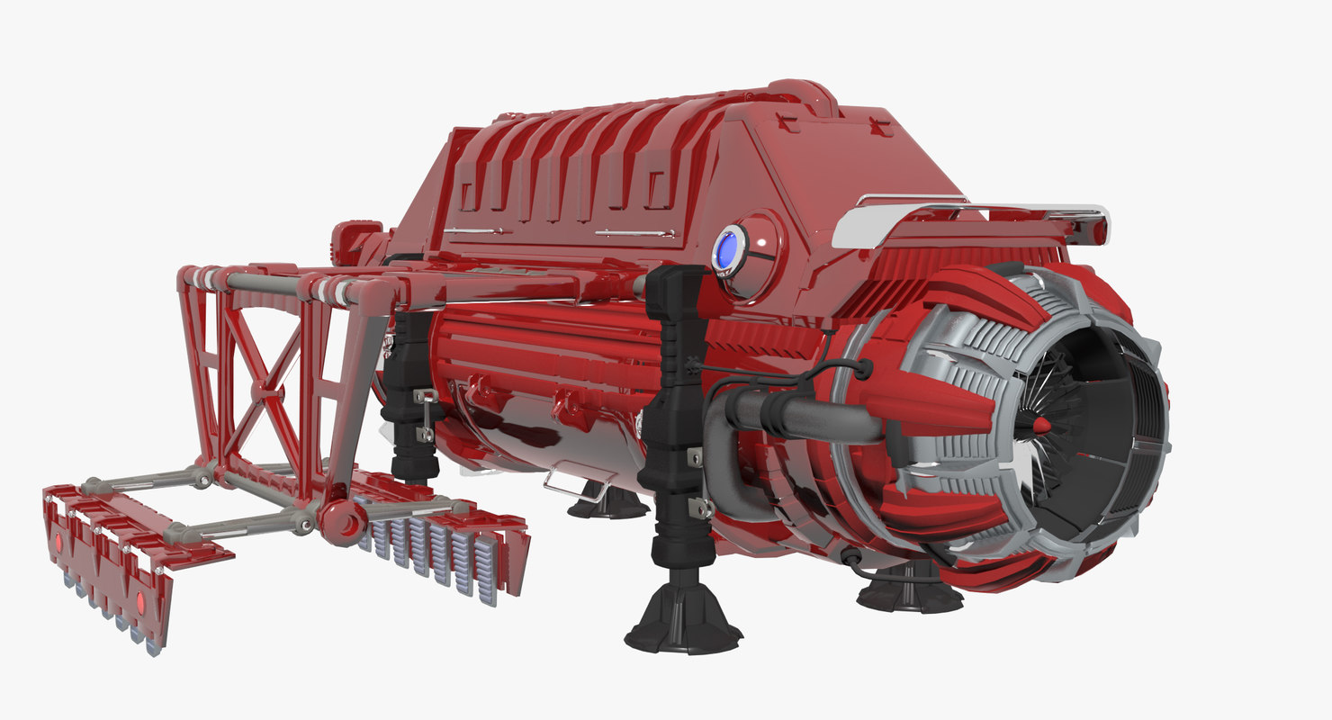 trawler robot vehicle 3d model