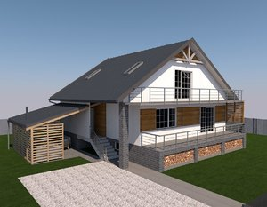 archicad house 3ds