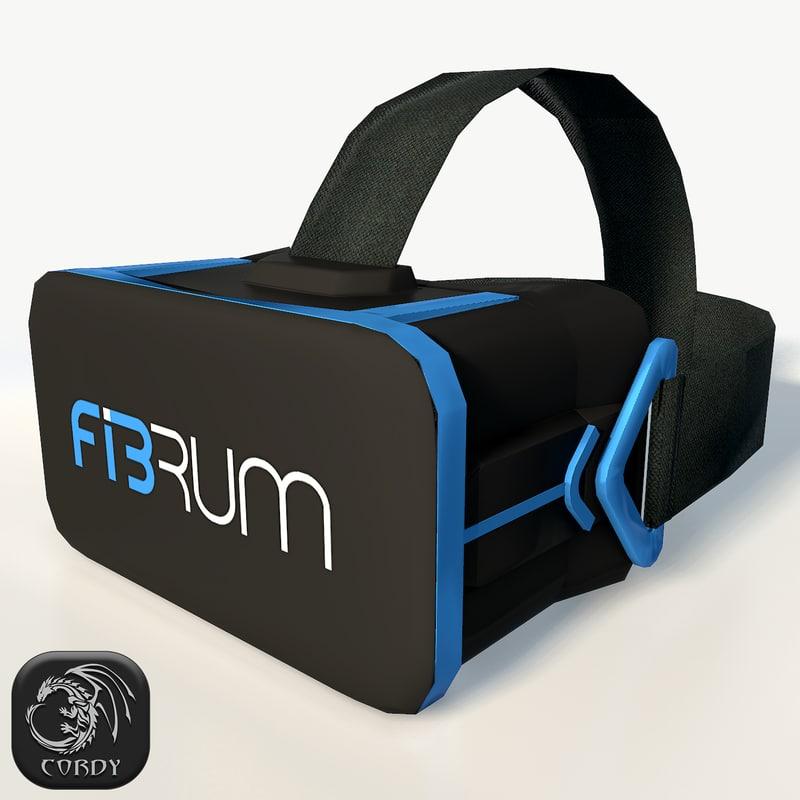 fibrum vr headset ultra 3d 3ds