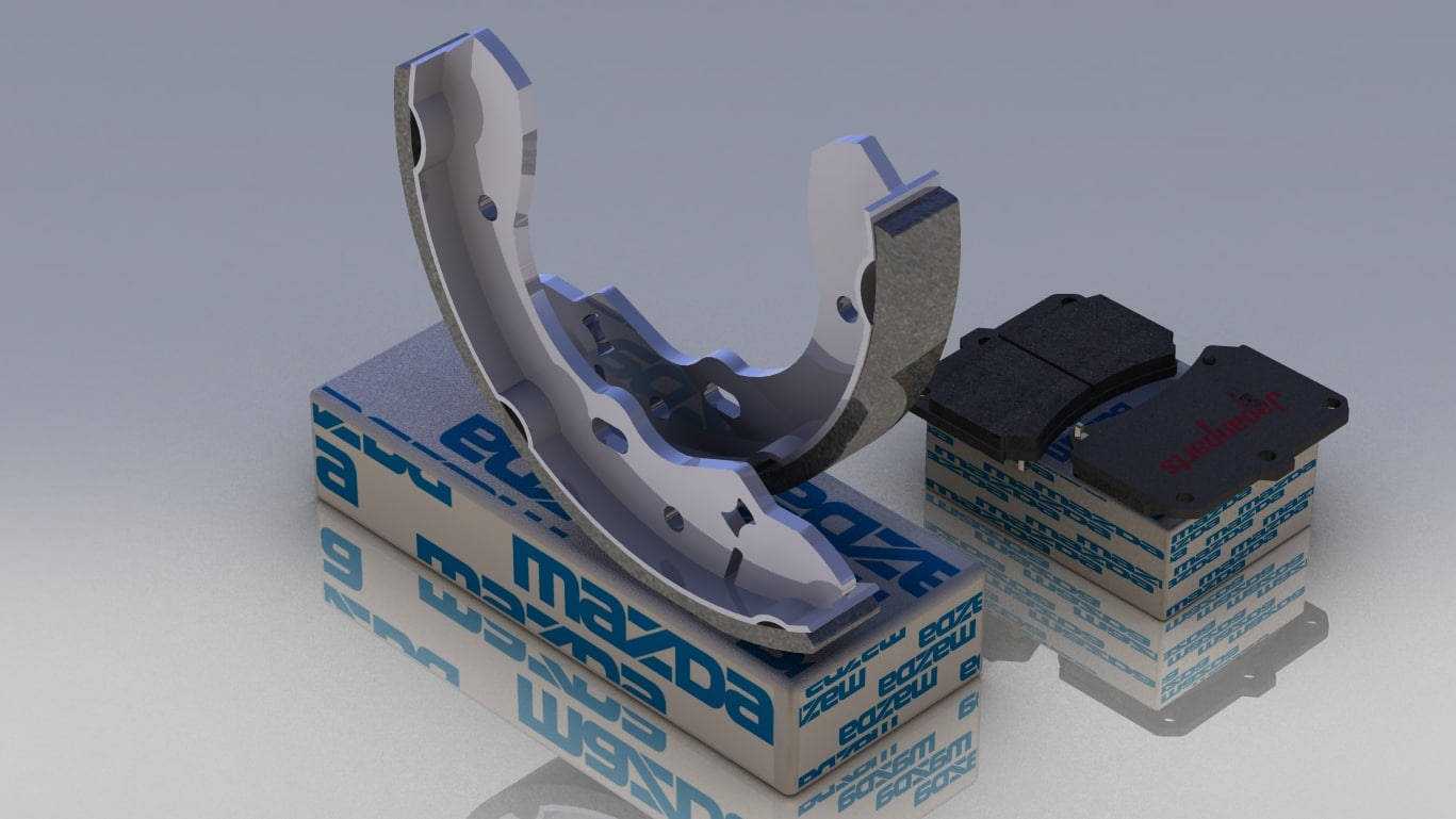 oem brake pads shoes 3d max
