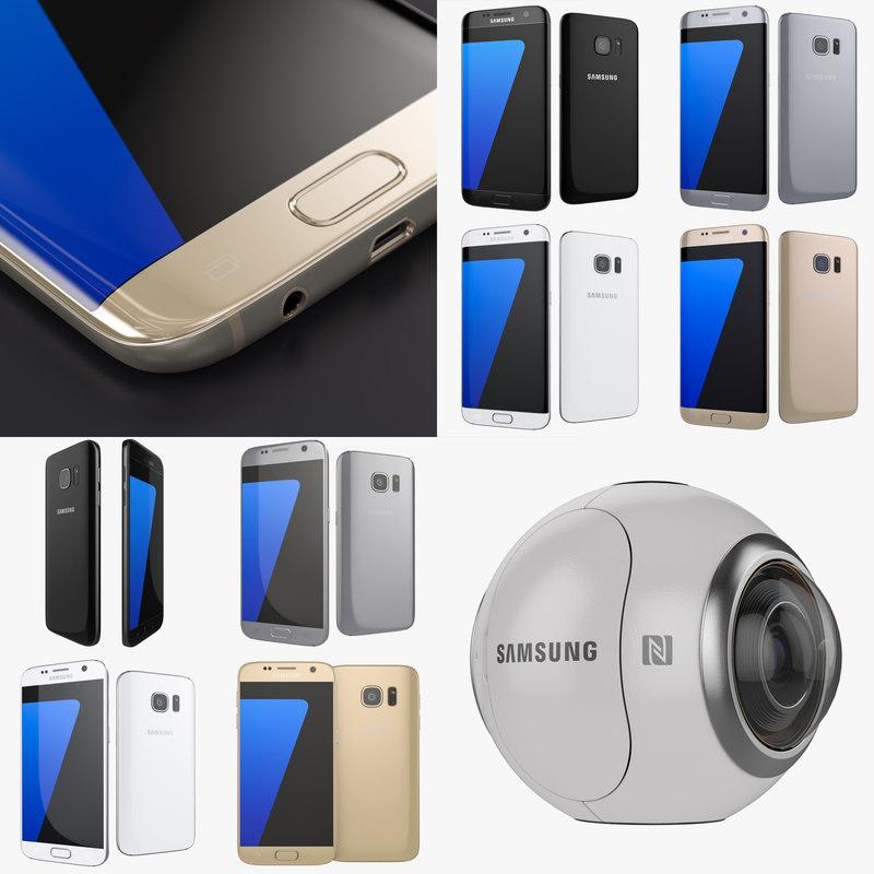 smartphones gear 360 colors 3d model