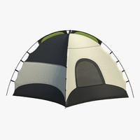 tent cam camping 3d model