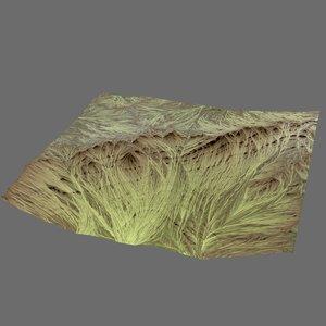 hills cliffs terrain 3d model