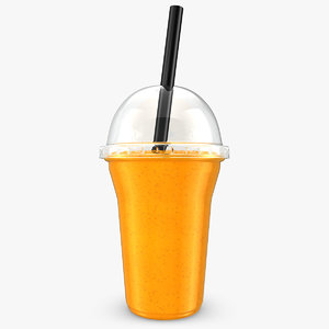 realistic fruit shake orange 3d 3ds