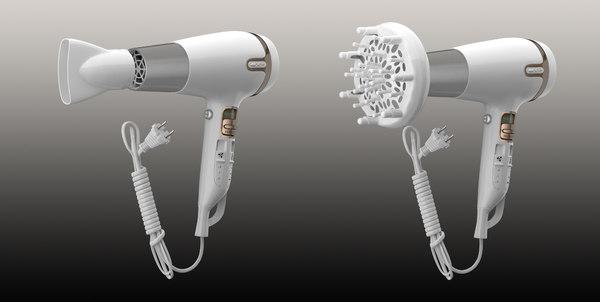 hair dryer 3d model
