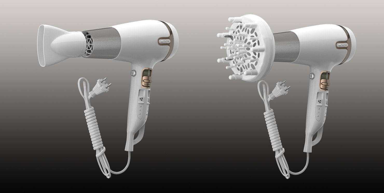 hair dryer 3d model