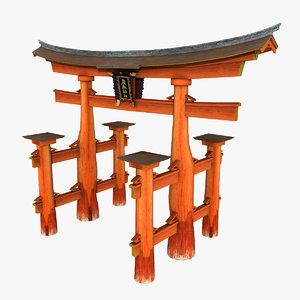 gate torii 3d max