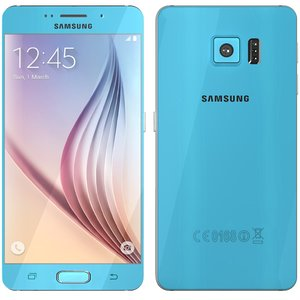 3d model samsung galaxy s6 blue