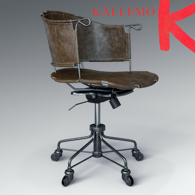 sheriff leather chair 3d model