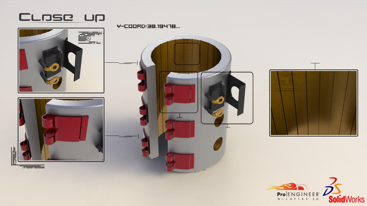 modelled heater 3d obj