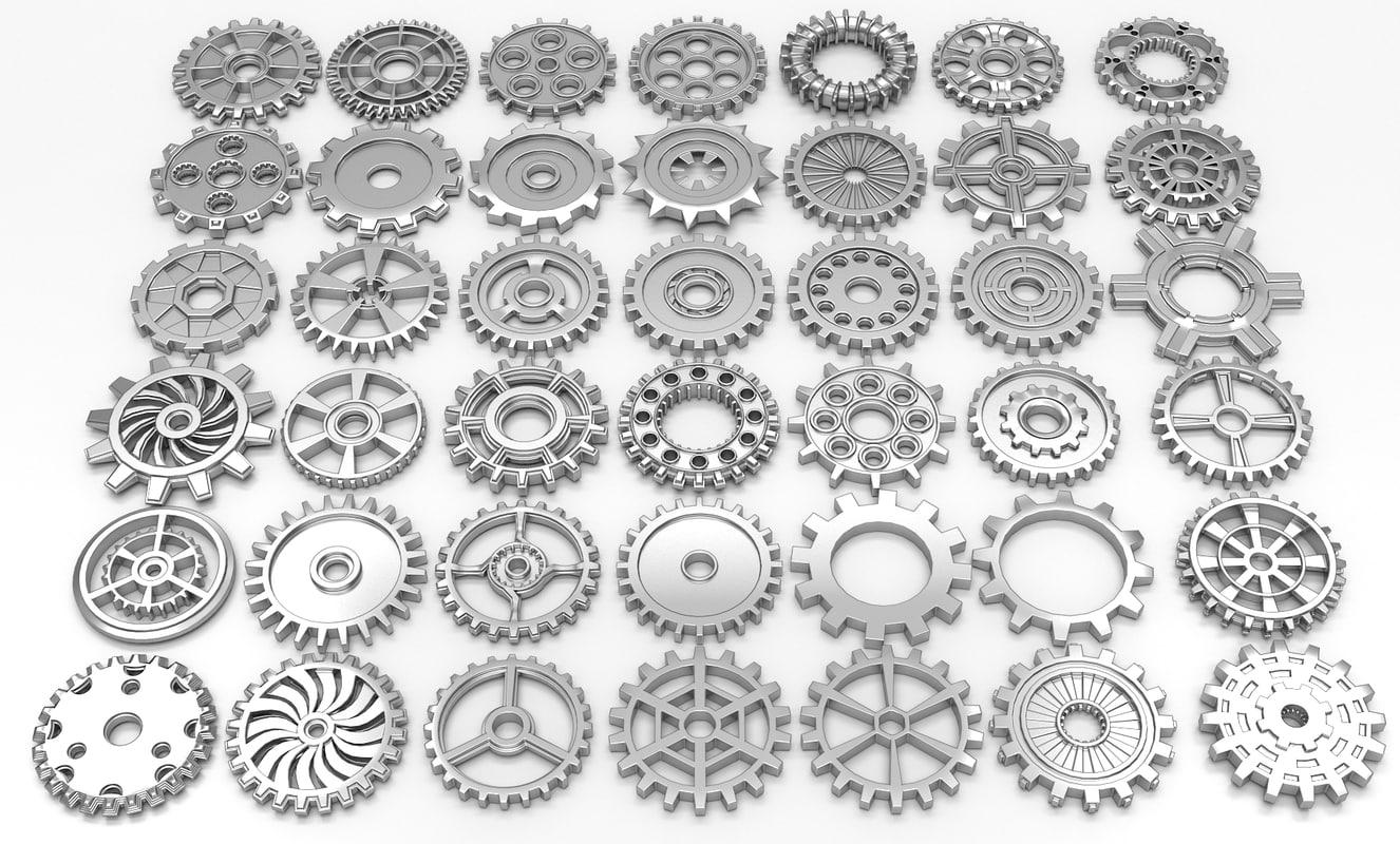3d obj 42 gears