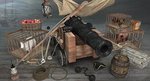 pirate props ship max