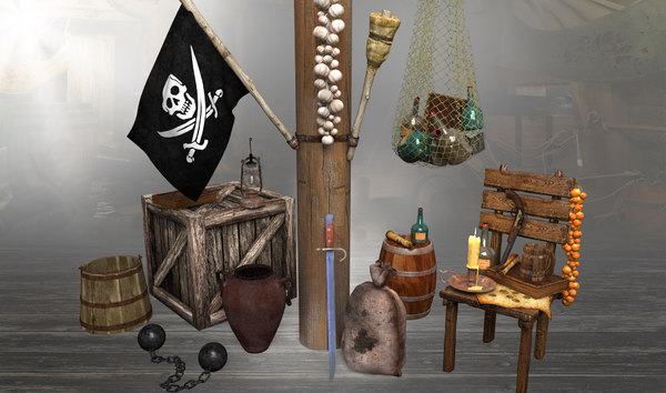 pirate props ship 3d max