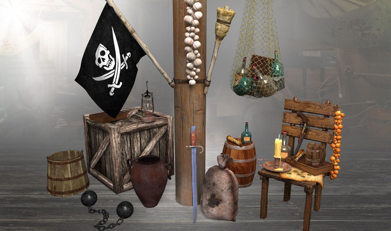 pirate props ship 3d max