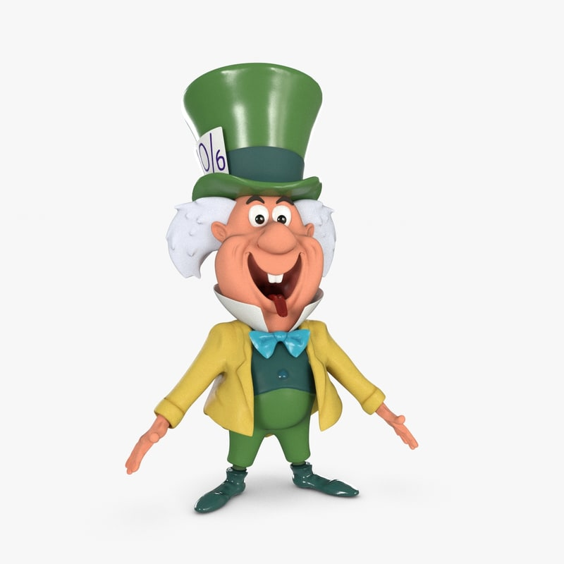 rigged mad hatter 3d model