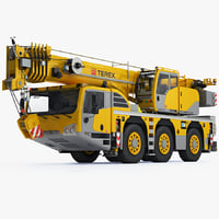 terex challenger 3160 terrain 3d model
