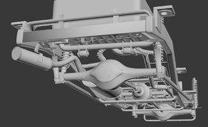 3d car underbody model