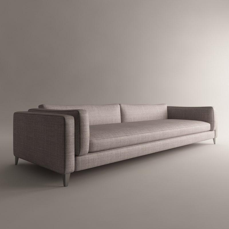 harris sofa 3d model
