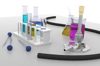3d model chemistry lab equipment
