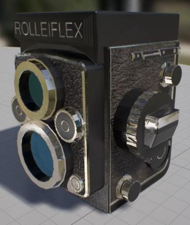 3d old rolliflex camera