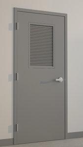 hollow metal door 3d max