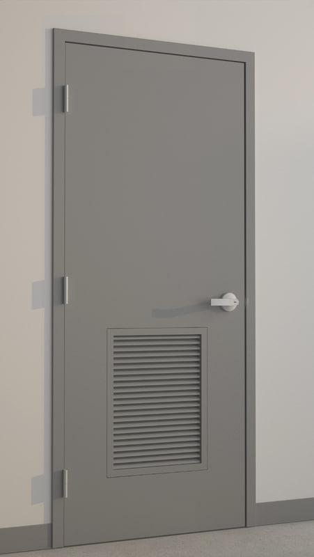 3d hollow metal door