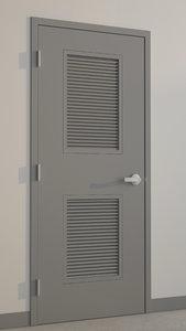 3d hollow metal door model