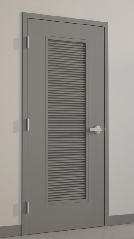 3d model hollow metal door