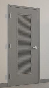 3d model hollow metal door