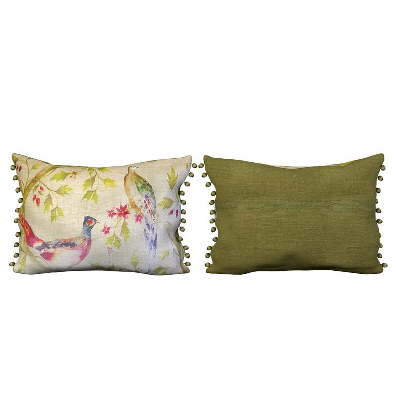3d voyage pom pillow model