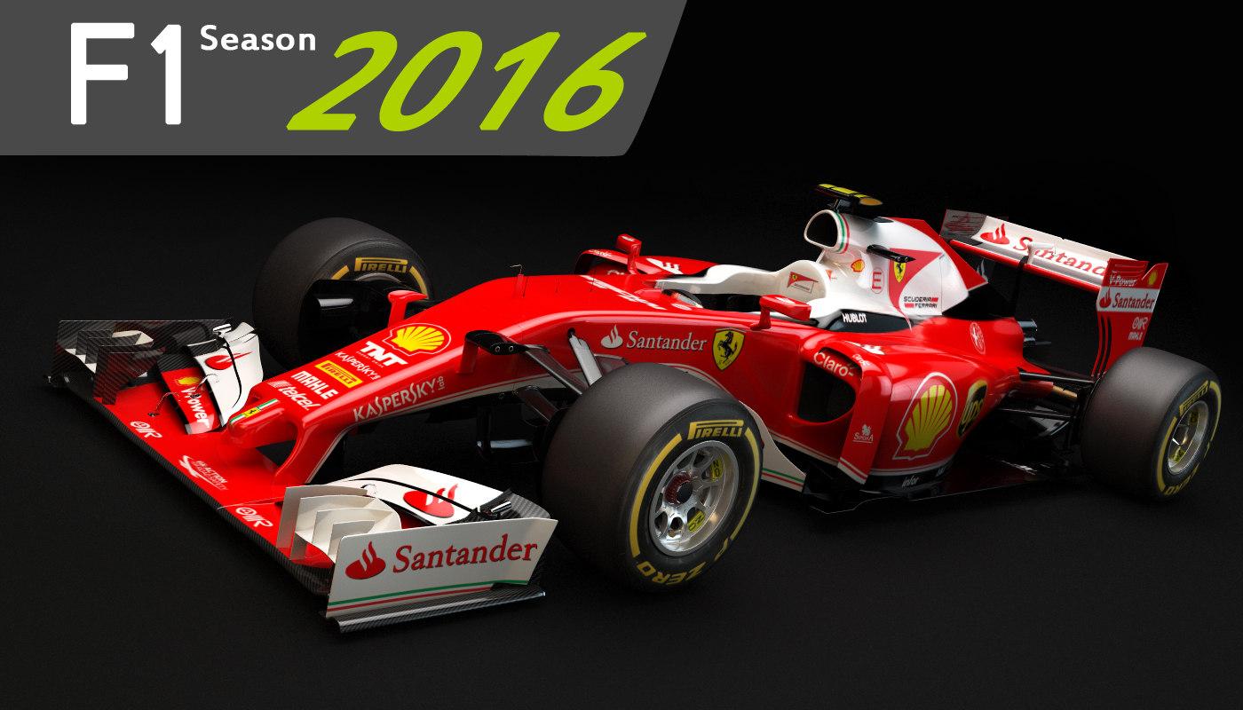 3d F1 Ferrari Sf16 H Model