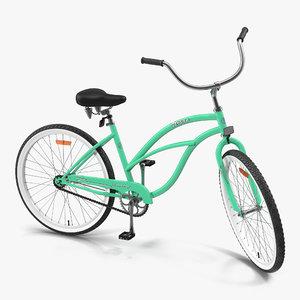 beach bike rigged 3d ma
