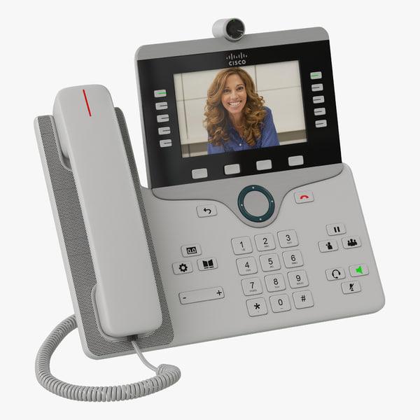 3d cisco ip phone 8865