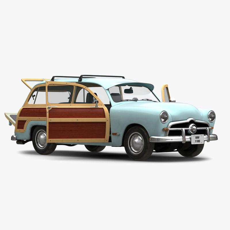 generic retro car 2 3d model