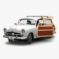 generic retro car 3 3d model