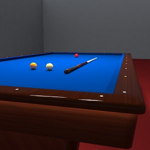 professional pool table 3d max