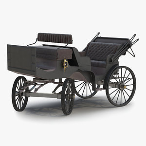 3d model of carriage rigged