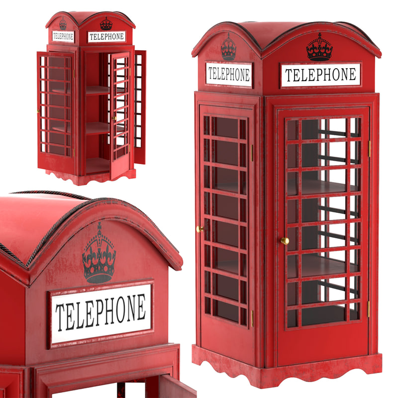 3d model showcase london telephone box