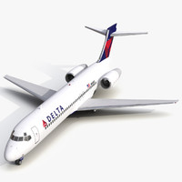 Boeing 717-200 Delta Air Lines Rigged
