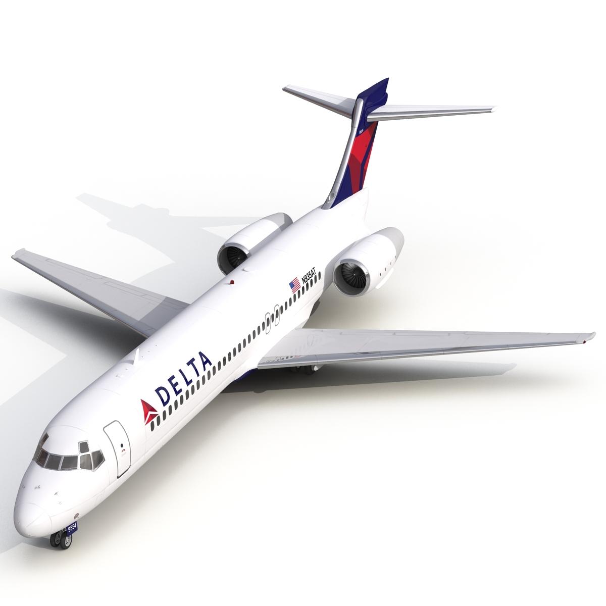 modelo 3d Boeing 717-200 Delta Air Lines aparejado - TurboSquid ...