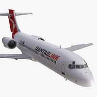 Boeing 717-200 Qantas Airways Rigged
