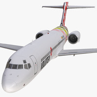 3d boeing 717-200 volotea rigged model