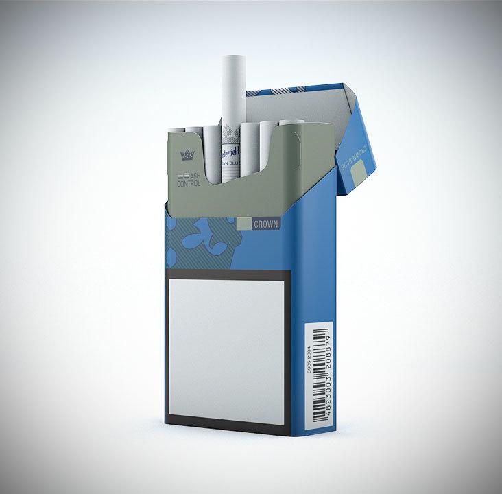 3d model chesterfield cigarette pack