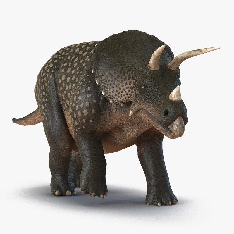 triceratops pose 3 3d max