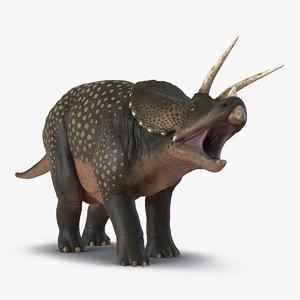 3d model triceratops pose 2