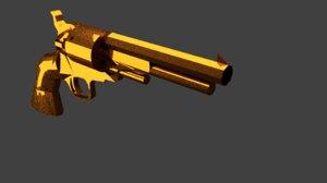 golden gun 3d blend
