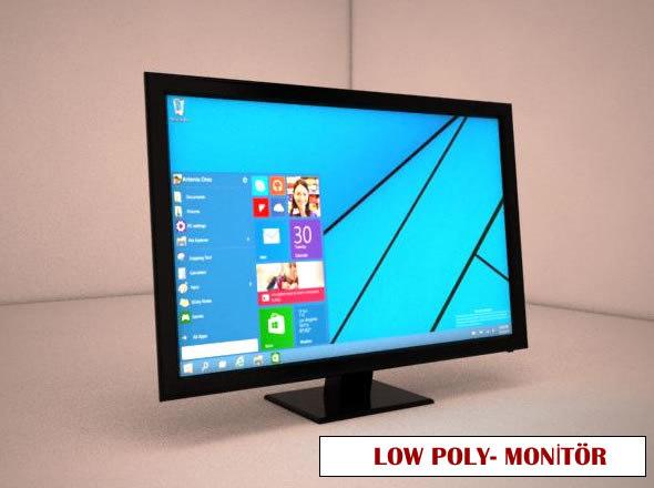 monitor windows 3d max